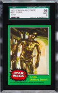 "Non-Sport Cards:Singles (Post-1950), 1977 Topps Star Wars ""C-3PO (Anthony Daniels)"" (Error) #207 SGC 96Mint 9 - Pop Three, None Higher. ..."
