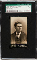 Baseball Cards:Singles (Pre-1930), 1895 N300 Mayo's Cut Plug Ed Delahanty SGC 70 EX+ 5.5 - Pop One,One Higher....