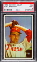 Baseball Cards:Singles (1950-1959), 1953 Bowman Color Curt Simmons #64 PSA Mint 9 - Only Graded Higher....