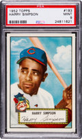 Baseball Cards:Singles (1950-1959), 1952 Topps Harry Simpson #193 PSA Mint 9 - Only One GradedHigher....