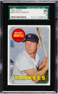 Baseball Cards:Singles (1960-1969), 1969 Topps Mickey Mantle, Yellow Letters #500 SGC 96 Mint 9 - NoneHigher! ...