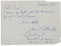 Baseball Collectibles:Others, 1950's Jim Bottomley Handwritten & Signed Letter. ...