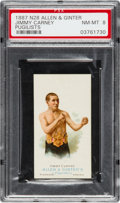Boxing Cards:General, 1887 N28 Allen & Ginter Jimmy Carney PSA NM-MT 8 - Only OneHigher. ...
