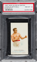 Boxing Cards:General, 1887 N28 Allen & Ginter Charlie Mitchell PSA NM-MT 8 - Only OneHigher. ...