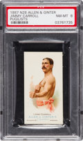 Boxing Cards:General, 1887 N28 Allen & Ginter Jimmy Carroll PSA NM-MT 8 - Pop Five,None Higher. ...