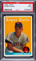Baseball Cards:Singles (1950-1959), 1958 Topps Roger Maris #47 PSA Mint 9 - Highest Grade Known! ...