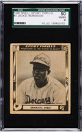 "Baseball Cards:Singles (1940-1949), 1948 Swell Sport Thrills ""Dramatic Debut"" Jackie Robinson #3 SGC 50 VG/EX 4. ..."