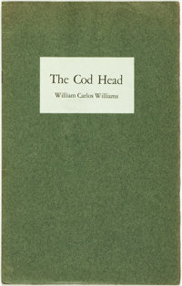 William Carlos Williams. SIGNED/LIMITED. The Cod Head. San Francisco: Harvest Press, 1932