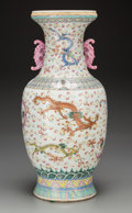 Asian:Chinese, A Large Chinese Famille Rose Enameled Porcelain Dragon Vase, . 19thcentury. 23 inches high (58.4 cm). PROPERTY FROM THE E...