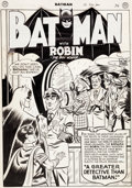 Original Comic Art:Splash Pages, Jim Mooney Batman #56 Story Splash Page 1 Original Art (DC,1949-50)....