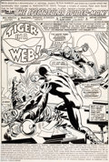 Original Comic Art:Splash Pages, Sal Buscema, Mike Esposito, and Frank Giacoia SpectacularSpider-Man #10 Splash Page 1 Original Art (Marvel, 1977)...