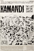 Original Comic Art:Splash Pages, Jack Kirby and D. Bruce Berry Kamandi #22 Splash Page 1 Original Art (DC, 1974)....