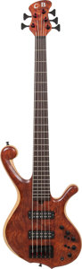 Musical Instruments:Electric Guitars, 2000 Cliff Bordwell (CB) Ball-Bass Natural 5-String Electric Bass Guitar....