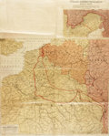 Books:Maps & Atlases, [World War I]. War Map of the Battleground of Liberty: A Strategic Map of the Battleground in Belgium and France from Lo...