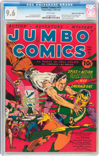Jumbo Comics #11 Mile High Pedigree (Fiction House, 1940) CGC NM+ 9.6 White pages