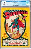 Golden Age (1938-1955):Superhero, Superman #1 Incomplete (DC, 1939) CGC PR 0.5 Off-white pages....