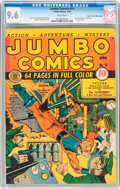 Golden Age (1938-1955):Adventure, Jumbo Comics #14 Mile High Pedigree (Fiction House, 1940) CGC NM+ 9.6 White pages....