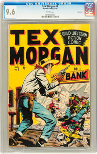 Tex Morgan #1 Vancouver Pedigree (Marvel, 1948) CGC NM+ 9.6 White pages