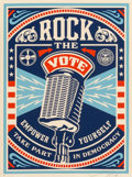 Prints:American, Shepard Fairey (b. 1970). One Hell of a Leader, Make Art, NotWar, and Rock the Vote (three works), 2004; 2006;2008... (Total: 3 Items)