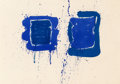 Prints, Sam Francis (1923-1994). Deux Magots (SF-3), 1960. Lithograph in colors on BFK Rives paper. 25 x 35-5/8 inches (63.5 x 9...