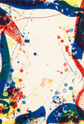 Prints, Sam Francis (1923-1994). Sulphur Water, 1967. Lithograph in colors on Rives BFK paper. 27-3/4 x 19 inches (70.5 x 48.3 c...