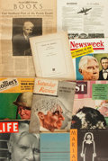 Books:Fiction, [Carl Sandburg]. Collection of Eleven Items. Various publishers and dates....