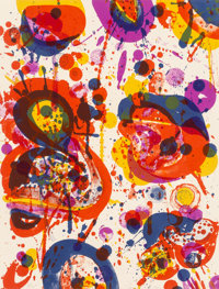 Sam Francis (1923-1994) Out of My Coffin (SF-44), 1963 Lithograph in colors on wove paper 13 x 10