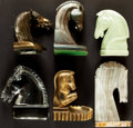 Books:Furniture & Accessories, [Bookends]. Group of Six Mismatched Horse Head Bookends. Various makers and dates.... (Total: 6 Items)