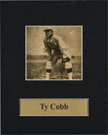 Baseball Collectibles:Photos, 1949 Ty Cobb Signed Newspaper Photograph. ...