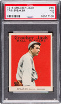 Baseball Cards:Singles (Pre-1930), 1915 Cracker Jack Tris Speaker #65 PSA NM 7....