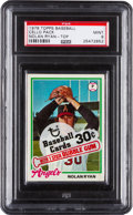 Baseball Cards:Unopened Packs/Display Boxes, 1978 Topps Baseball Unopened Cello Pack PSA Mint 9 With Ryan/Carter Cards Showing. ...