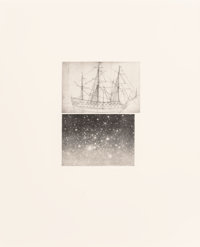 Vija Celmins (b. 1939) Alliance, 1983 Aquatint with mezzotint and drypoint on Fabriano paper 10 x