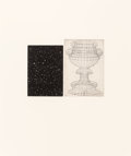 Prints:Contemporary, Vija Celmins (b. 1939). Constellation - Uccello, 1983.Aquatint in colors and etching on Fabriano Rosapina white paper....