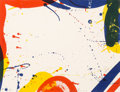 Prints:Contemporary, Sam Francis (1923-1994). Untitled, from Portfolio 9,1967. Lithograph in colors on wove paper. 17 x 22 inches (43.2 ...