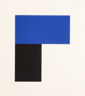 Prints:Contemporary, Ellsworth Kelly (1923-2015). Blue with Black I, 1974.Lithograph in colors on Arjomari paper. 42-1/2 x 37-1/4 inches(10...