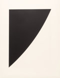 Prints, Ellsworth Kelly (1923-2015). Black Variation 1, 1975. Lithograph and intaglio with debossing on Rives BFK paper. 32 x 23...