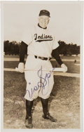 Baseball Collectibles:Others, 1953 Tris Speaker Signed Postcard. ...