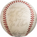 Baseball Collectibles:Balls, 1968 St. Louis Cardinals Team Signed Baseball. ...