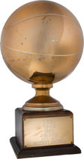Basketball Collectibles:Others, 1974-75 John Roche ABA Kentucky Colonels Trophy....