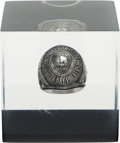 Football Collectibles:Others, 1966-67 Super Bowl I Vince Lombardi Green Bay Packers Lucite Ring Display. ...