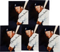 Baseball Collectibles:Photos, Mickey Mantle Signed Photographs Lot of 5 - Ex Mantle Auction....