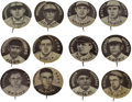 Baseball Cards:Lots, 1909-12 P2 Sweet Caporal Baseball Pins Collection (51). ...