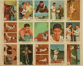 "Baseball Cards:Sets, 1959 Fleer ""Ted Williams"" Uncut Panel of 15 cards With #68 ""Ted Signs for 1959."" ..."