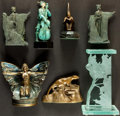Books:Furniture & Accessories, [Bookends]. Mixed Lot of Seven. Various makers and dates.... (Total: 7 Items)