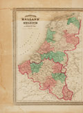 Books:Maps & Atlases, [Maps]. A. J. Johnson. Nineteenth-Century Hand-Colored Map Entitled, Johnson's Holland and Belgium. [New York:] ...
