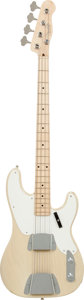 Musical Instruments:Bass Guitars, 2010 Fender Custom Shop '55 Precision Bass NOS Blonde Electric BassGuitar, Serial # 2790....