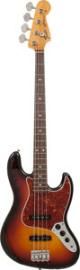 Musical Instruments:Bass Guitars, 1990's Fender Jazz Bass Sunburst Electric Bass Guitar, Serial # JV24125....