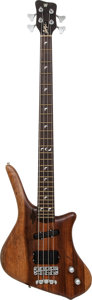 Musical Instruments:Bass Guitars, 1980's Warwick Natural Electric Bass Guitar, Serial # B04089....