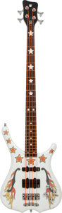 Musical Instruments:Bass Guitars, 2010 Warwick Bootsy Collins Orange Star White Electric Bass Guitar, Serial # WPS K-000025-10....
