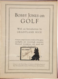 "Golf Collectibles:Autographs, 1930 ""Bobby Jones On Golf"" Signed by Bobby Jones...."